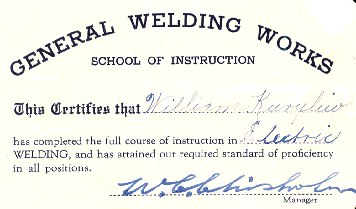 Welding Card Cr Chapters And Verses